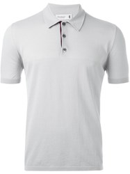 Pringle Of Scotland Classic Polo Shirt Grey