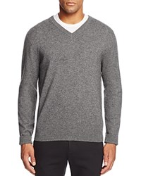 Bloomingdale's The Men's Store At Cashmere V Neck Sweater Heather Grey