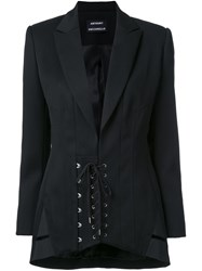 Anthony Vaccarello Corset Waist Jacket Black