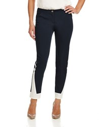 Armani Jeans Contrast Ankle Trousers Dark Blue
