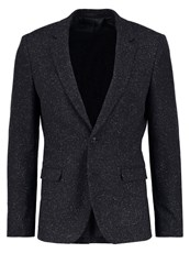 Kiomi Suit Jacket Salt And Pepper Mottled Grey
