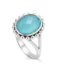 Lagos Sterling Silver Maya Escape Turquoise Doublet Ring Turquoise Silver