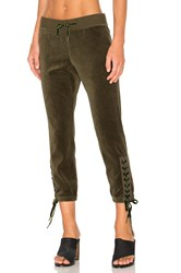 Pam And Gela Lace Up Sweatpant Green
