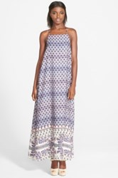 Leith Print Maxi Dress Juniors Blue