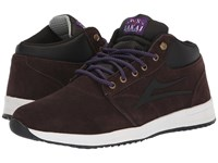 Lakai Griffin Mid Weather Treated Chocolate Suede Skate Shoes Brown