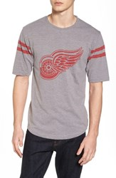 American Needle 'S Crosby Detroit Red Wings T Shirt Heather Grey