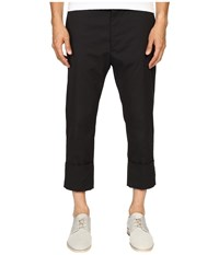 Vivienne Westwood James Bond Stretch Cotton Cropped Trousers Black Men's Casual Pants