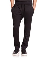 Public School Asymmetrical French Terry Sweatpants Black