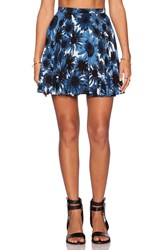 Motel Simone Skater Skirt Blue