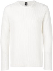Eleventy Classic Fitted Sweater White