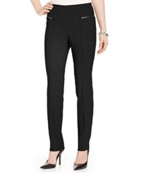 Styleandco. Style And Co. Petite Skinny Leg Pull On Pants Deep Black