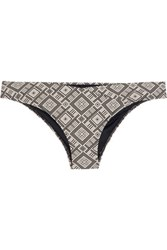 Prism Boracay Patterned Bikini Briefs Ecru