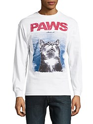 Riot Society Paws Screen Printed Tee White