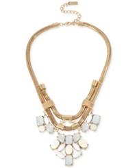 Inc International Concepts M. Haskell For Inc Gold Tone Heavy Link Faceted Stone Statement Necklace Only At Macy's