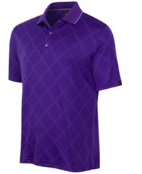 Greg Norman For Tasso Elba Men's Diamond Sun Protection Performance Polo Only At Macy's Purple Yam