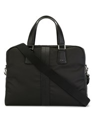 Tod's Adjustable Strap Briefcase Black