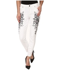 Cj By Cookie Johnson Wisdom Ankle Skinny W Floral Embroidery In Optic White Optic White Women's Jeans