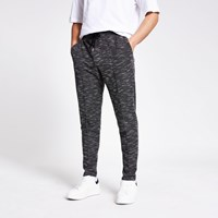 River Island Black Textured Slim Fit Joggers