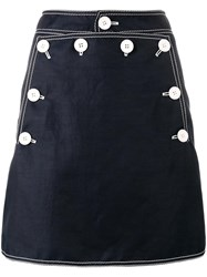 Stella Mccartney Button Mini Skirt Blue