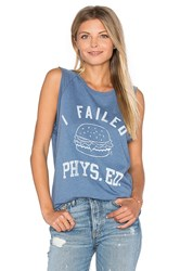 Junk Food I Failed Phys.Ed. Tank Blue