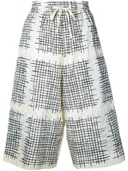 Toogood Checked Cropped Trousers Women Silk 0 White