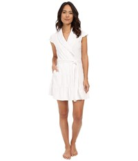 Betsey Johnson Baby Terry Satin Lined Robe Sonic White The Bride Women's Robe