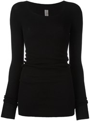 Rick Owens Scoop Neck Jumper Black