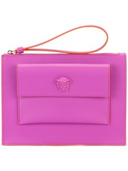 Versace Small Flap Pouch Pink Purple