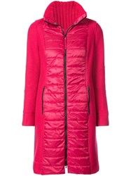Marc Cain Padded Parka Polyester Wool Pink Purple