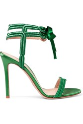 Gianvito Rossi Satin And Lame Sandals Green