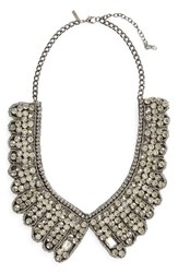 Topshop Women's Scallop Crystal Statement Necklace