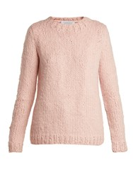 Gabriela Hearst Luiz Round Neck Cashmere Sweater Light Pink