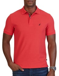 Nautica Slm Fit Performance Deck Polo Shirt Rose Coral