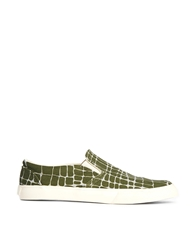 Ymc Giraffe Slip On Trainers Khaki