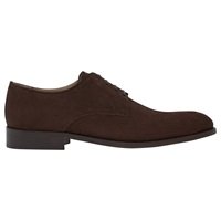 Reiss Porter Suede Derby Shoes Brown