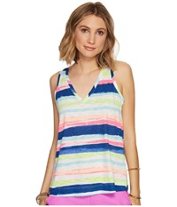 Lilly Pulitzer Jaylynne Top Multi Cats Meow Stripe Reduced Women's Sleeveless