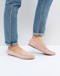 Steve Madden Feather Rose Suede Flat Shoes Rose Suede Pink