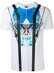 Les Hommes Abstract Print T Shirt White