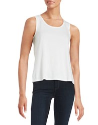 Eileen Fisher Plus Stretch Silk Jersey Scoopneck Tank Top White