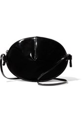 Maison Martin Margiela Mm6 Faux Patent Leather Shoulder Bag Black