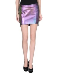 Mason Mini Skirts Purple