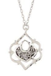 Lois Hill Sterling Silver Anniversary Pendant Necklace No Color