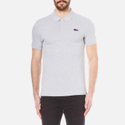 Lacoste L Ve Men's Large Croc Logo Polo Shirt Silver Chine Ship Grey