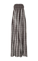 Brock Collection Linen Gingham Dilly Dress White