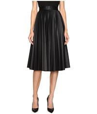 M Missoni Faux Leather Pleated Skirt Black