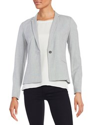 T Tahari Textured One Button Blazer Grey