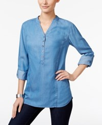 Styleandco. Style Co. Denim Roll Tab Tunic Only At Macy's Sun Wash