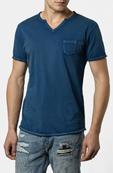 Rogue Notch V Neck Pocket T Shirt Deep Ocean