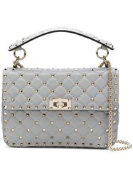 Valentino Garavani Rockstud Spike Medium Chain Bag Grey