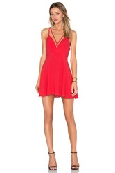 Nbd X Naven Twins Bet U Wish Fit And Flare Dress Red